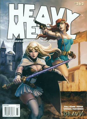Heavy Metal #262 Featuring Dravn Previews Exclusive Edition