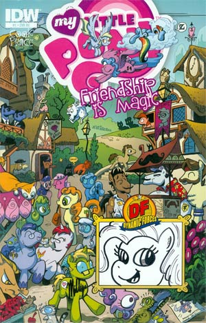 My Little Pony Friendship Is Magic #1 DF Exclusive Mane Six Re-Marked Variant Cover 6-Copy Set
