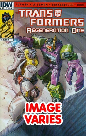 DO NOT USE Transformers Regeneration One #90 Regular Cover (Filled Randomly With 1 Of 2 Covers)