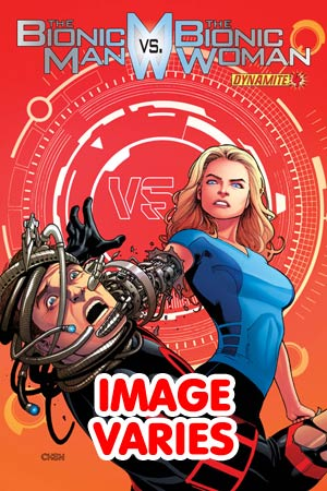 DO NOT USE Bionic Man vs Bionic Woman #4 Regular Cover (Filled Randomly With 1 Of 2 Covers)