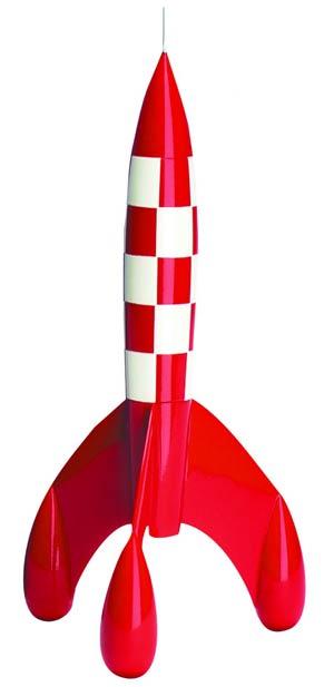 Tintin Rocket 42-cm Resin Figurine
