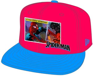 Spider-Man Comic Panel Snap Back Cap