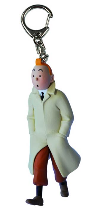 Tintin PVC Keyring - Tintin Trench Walking