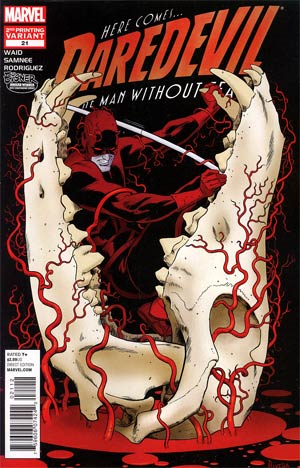 Daredevil Vol 3 #21 2nd Ptg Paolo Rivera Variant Cover