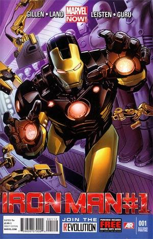 Iron Man Vol 5 #1 2nd Ptg Greg Land Variant Cover