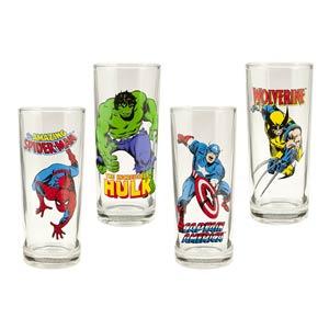 Marvel Comics 4-Piece 10-Ounce Glasses