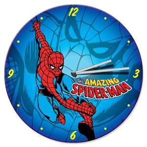 Spider-Man 13.5-Inch Cordless Wood Wall Clock