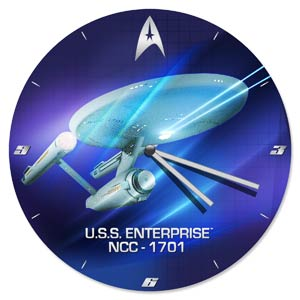 Star Trek 13.5-Inch Cordless Wood Wall Clock