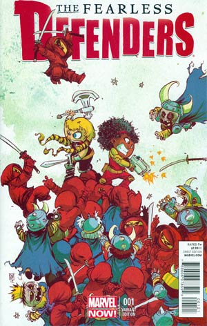 Fearless Defenders #1 Variant Skottie Young Baby Cover