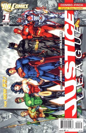 Justice League Vol 2 #1 Combo Pack Without Polybag 2nd Ptg