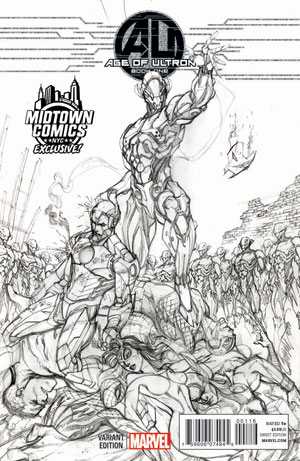 Age Of Ultron #1 Cover C Midtown Exclusive J Scott Campbell Sketch Variant Cover