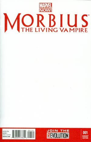 Morbius The Living Vampire Vol 2 #1 Cover C Variant Blank Cover
