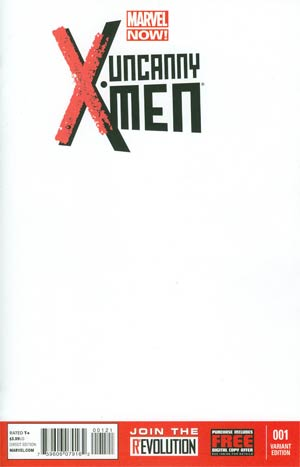 Uncanny X-Men Vol 3 #1 Cover B Variant Blank Cover