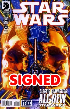 Star Wars (Dark Horse) Vol 2 #1 1st Printing Signed By Brian Wood - Proceeds go to charity!