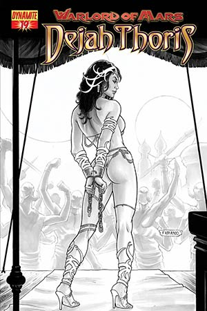 Warlord Of Mars Dejah Thoris #19 High-End Fabiano Neves Black & White Ultra-Limited Variant Cover (Only 25 In Existence)