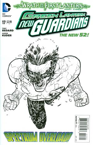 Green Lantern New Guardians #17 Incentive Aaron Kuder Sketch Cover (Wrath Of The First Lantern Tie-In)