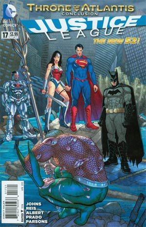 Justice League Vol 2 #17 Variant Steve Skroce Cover (Throne Of Atlantis Part 5)