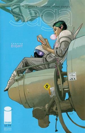 Saga #8 Cover B 2nd Ptg