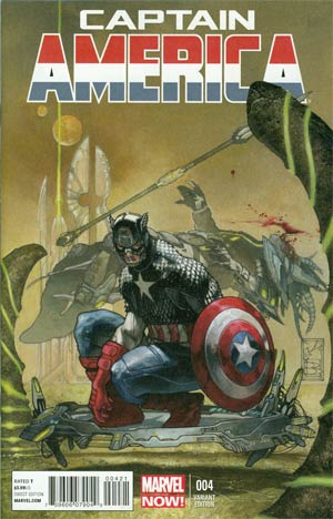 Captain America Vol 7 #4 Cover B Incentive Simone Bianchi Variant Cover