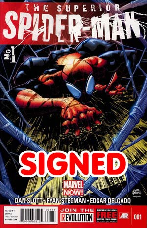 Superior Spider-Man #1 1st Ptg Regular Ryan Stegman Cover Signed By Dan Slott (Limit 1 per customer)