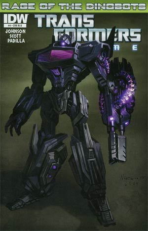 Transformers Prime Rage Of The Dinobots #4 Incentive Animated Series Character Variant Cover