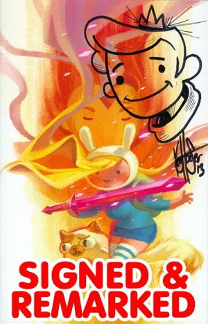 Adventure Time Fionna & Cake #1 Cover I DF Exclusive Variant Cover Signed & Remarked By Ken Haeser