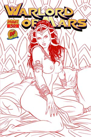 Warlord Of Mars #30 DF Exclusive Jose Malaga Martian Red Risque Cover