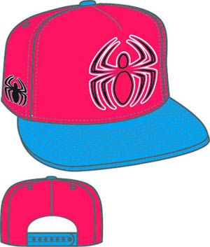 Hero Neon Sign Spider-Man Symbol Snapback Cap