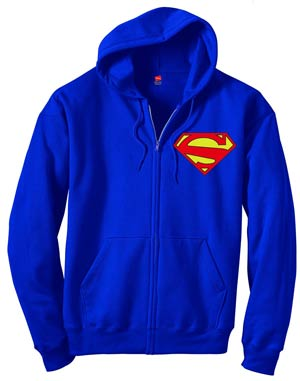 Superman 52.2 Symbol Zip-Up Hoodie X-Large
