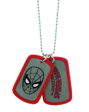 Marvel Comics Double Dog Tag Set - Spider-Man Face Logo