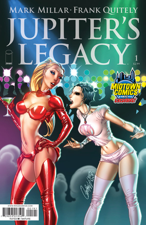 Jupiters Legacy #1 Midtown Exclusive J Scott Campbell Variant Cover