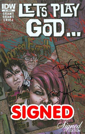 Lets Play God #1 Incentive Signed By Creative Team