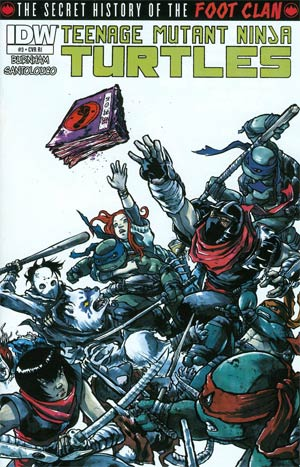 Teenage Mutant Ninja Turtles Secret History Of The Foot Clan #3 Incentive Ross Campbell Variant Cover