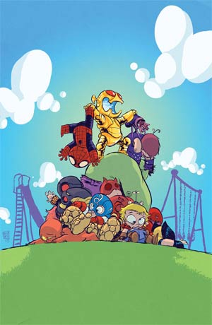 Age Of Ultron #1 Cover E Variant Skottie Young Baby Cover