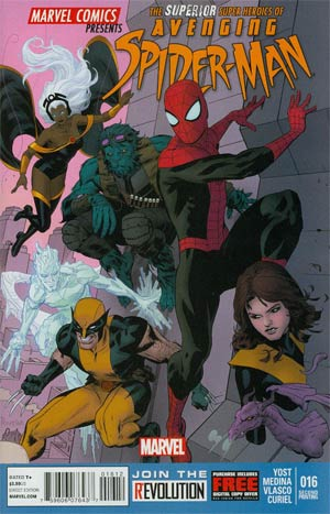 Avenging Spider-Man #16 Cover B 2nd Ptg Paolo Rivera Variant Cover