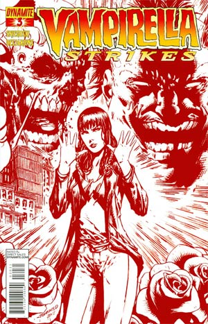 Vampirella Strikes Vol 2 #3 Incentive Johnny Desjardins Blood Red Cover