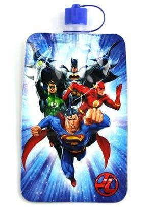 Justice League 7.5-Ounce Burst Collapsible Water Bottle