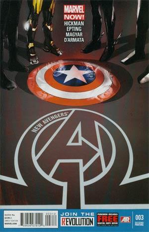 New Avengers Vol 3 #3 2nd Ptg Jock Variant Cover