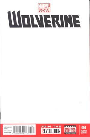 Wolverine Vol 5 #1 Cover B Variant Blank Cover