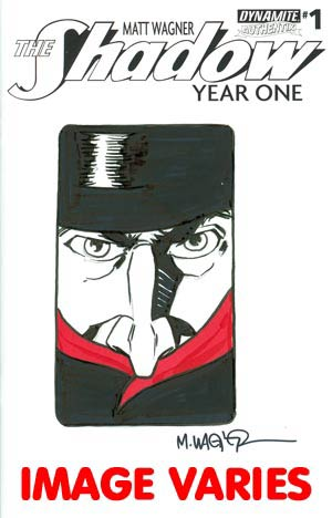 Shadow Year One #1 Cover M Incentive Matt Wagner Original Hand-Drawn Sketch Cover