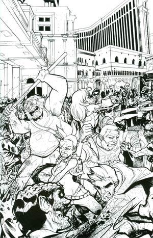 Fanboys vs Zombies #12 Incentive Dominike Domo Stanton Virgin Sketch Cover