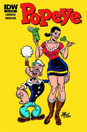 Popeye Vol 3 #11 Incentive Mitch O Connell Variant Cover