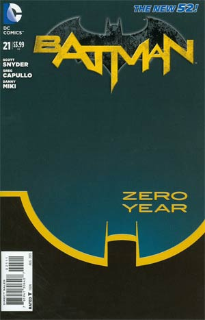 Batman Vol 2 #21 Cover A 1st Ptg Regular Greg Capullo Cover (Batman Zero Year Tie-In)