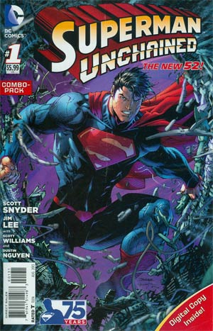Superman Unchained #1 Cover B Combo Pack With Polybag
