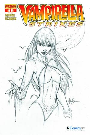 Vampirella Strikes Vol 2 #1 Cover P DF Comicspro Michael Turner Black & White Exclusive Cover