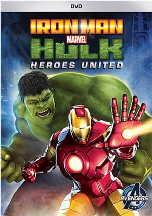 Marvel Iron Man And Hulk Heroes United DVD
