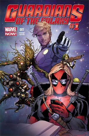Guardians Of The Galaxy Vol 3 #1 Cover E Variant Texts From Deadpool Cover