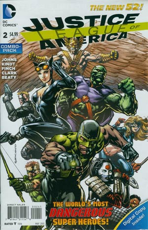 Justice League Of America Vol 3 #2 Combo Pack Without Polybag