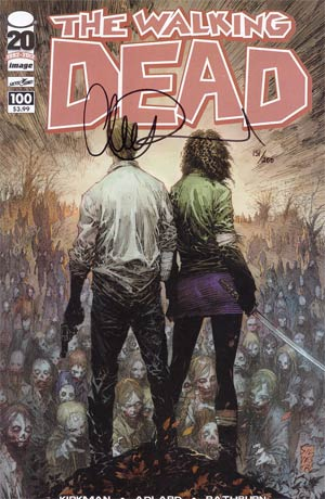Walking Dead #100 DF Signed By Charlie Adlard 1st Ptg Regular Cover B Marc Silvestri
