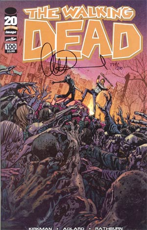 Walking Dead #100 DF Signed By Charlie Adlard 1st Ptg Regular Cover F Bryan Hitch